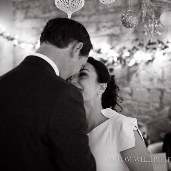 Winter wedding at The Rectory, Crudwell