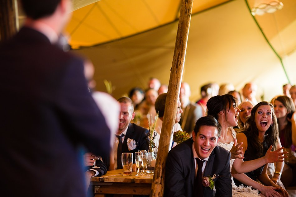 Tipi wedding with a festival theme