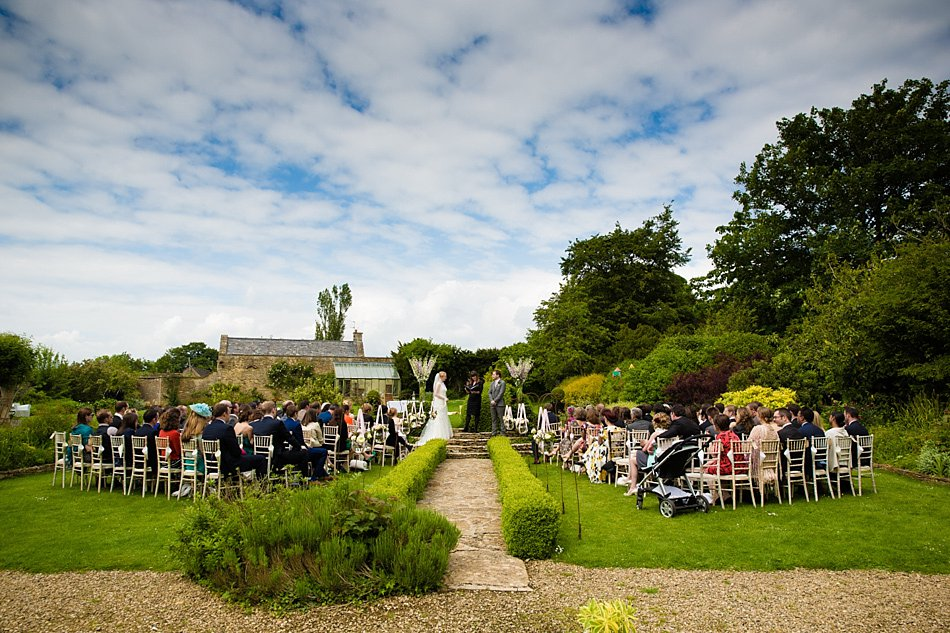 Outdoor ceremony at The Rectory, Crudwell